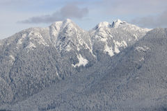 Vancouver`s Northshore Mountains in Winter Royalty Free Stock Images