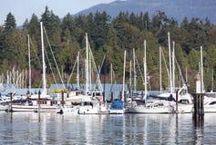 Vancouver ` s parkerar marina fotografering för bildbyråer