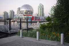 Vancouver's renovated Science World. Around False Creek. British Columbia, Canada Royalty Free Stock Image