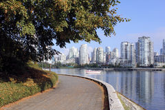 Vancouver's Seawall Royalty Free Stock Photography