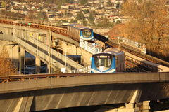 Vancouver`s SkyTrain Breaks Down Royalty Free Stock Photography