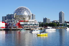 Vancouver's waterfront. Vancouver's False creek bay and newly erected condominums. Picture taken Aug 2014 Royalty Free Stock Image