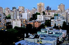 Vancouver's West End by Night Stock Images
