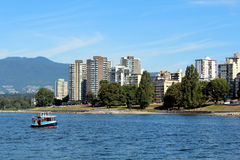 Vancouver's Westend. Looking north across English Bay to Vancouver's Westend Stock Images