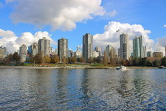 Vancouver ` s Westend of West-Eind Stock Afbeelding