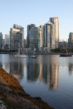 Vancouver's Yaletown Morning vertical Royalty Free Stock Photo