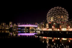 Vancouver Science World and BC Place Royalty Free Stock Image