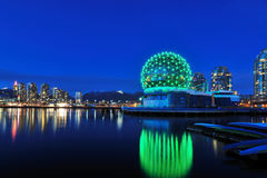 Vancouver Science World at Christmas time Stock Photography