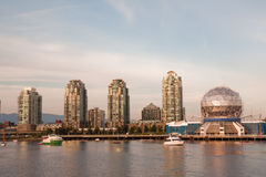 Vancouver Science World skyline from the water Stock Images