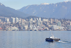 Vancouver Seabus, Burrard Inlet Royalty Free Stock Photo