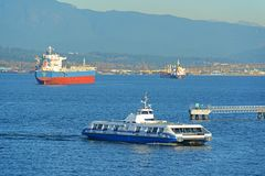 Vancouver Seabus, Vancouver, A.C., Canadá Imagenes de archivo