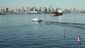 Vancouver Seabus, Crossing Burrard Inlet stock video footage
