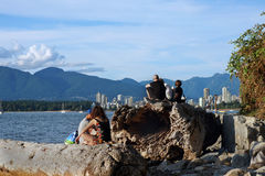 Vancouver seashore Royalty Free Stock Photography