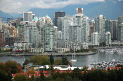 Vancouver Skyline. At False Creek (buildings Stock Image
