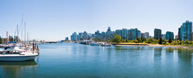 Vancouver skyline. The Vancouver skyline, viewed from Stanley Park Stock Photos