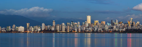 Vancouver Skyline. Vancouvers skyline in the early evening Royalty Free Stock Image