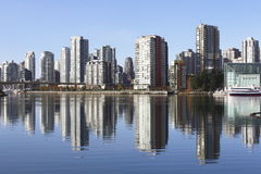 Vancouver Skyline. Looking northwest to Vancouver's downtown core district Stock Image