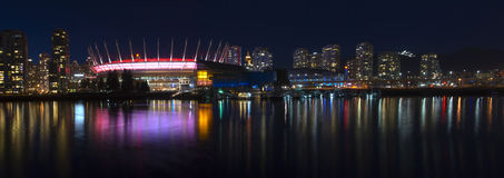 Vancouver Skyline. During a fine evening on a spring night Royalty Free Stock Photo