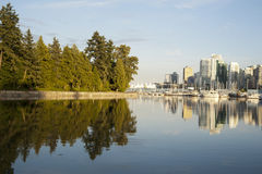 Vancouver skyline Royalty Free Stock Photos
