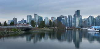Vancouver Skyline as seen from Stanley Park Royalty Free Stock Photo
