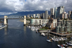 Vancouver Skyline and Burrard Bridge Stock Photography