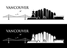 Vancouver skyline - Canada - vector illustration. Vancouver skyline - Canada - city illustration Royalty Free Stock Photography