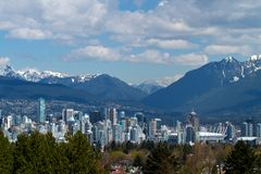 Vancouver Skyline Cityscape Canada Stock Photography