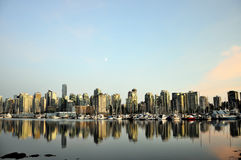 Vancouver skyline at dusk Stock Photos