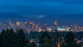 Vancouver Skyline at Dusk Royalty Free Stock Images