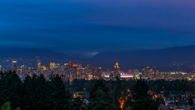 Vancouver Skyline at Dusk Royalty Free Stock Photo