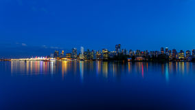 Vancouver Skyline at Dusk Stock Images