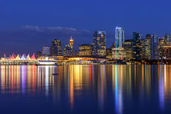 Vancouver Skyline at Dusk Royalty Free Stock Photography