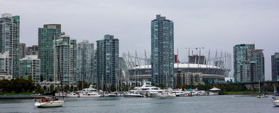 Vancouver Skyline featuring BC Stadium. Royalty Free Stock Image
