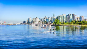 Vancouver skyline with harbor, British Columbia, Canada royalty free stock photos