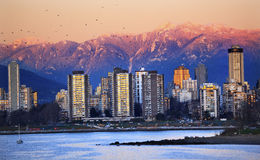 Vancouver Skyline Harbor English Bay Stock Image