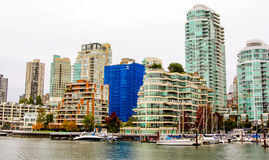 Vancouver Skyline looking across False Creek. Stock Images