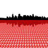 Vancouver-Skyline mit Dollar Lizenzfreies Stockbild