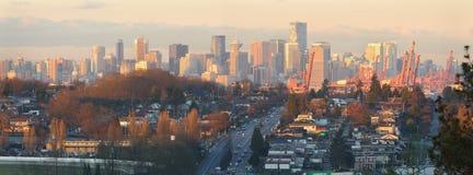 Vancouver Skyline Panorama Morning Royalty Free Stock Photo