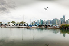 Vancouver skyline and port view canada royalty free stock images