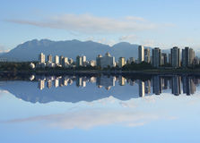 Vancouver Skyline reflected Royalty Free Stock Photos