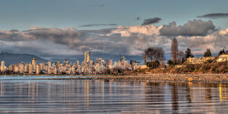 Vancouver Skyline From Shore Royalty Free Stock Photo