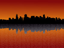 Vancouver skyline at sunset Royalty Free Stock Photography