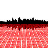 Vancouver skyline with text. Illustration Royalty Free Stock Photography