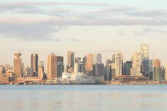 Vancouver Skyline, Trade and Convention Center Royalty Free Stock Photos