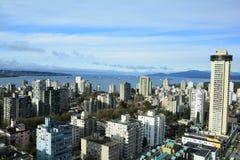 Vancouver-Skyline und englischer Schacht Stockfotos