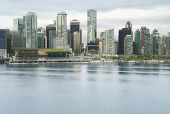 Vancouver skyline. View of Downtown Vancouver Stock Images