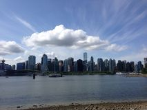 Vancouver Skyline. Vancouver view from Stanley Park Stock Photo