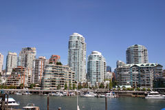 Vancouver Skyline. Waterfront Skyline in Vancouver Canada Stock Image