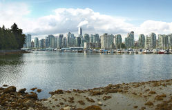 Vancouver skyline and waterfront from Stanley Park. Canada Royalty Free Stock Image