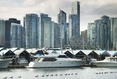 Vancouver skyline and waterfront from Stanley Park. Canada Stock Photo